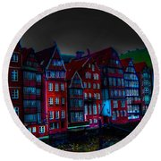 Dyke Road  -  Hamburg Round Beach Towel