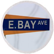 E. Bay Ave Round Beach Towel