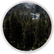 Eagle Falls Emerald Bay Round Beach Towel