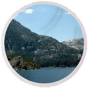 Eagle Falls In Emerald Bay Round Beach Towel