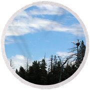 Eagles Nest Lake Tahoe Round Beach Towel