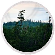 Eagle's Perch Round Beach Towel
