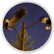Eagles Suspended Round Beach Towel