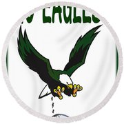 Eagles Vs Dallas Round Beach Towel