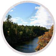 Early Autumn Colors Round Beach Towel