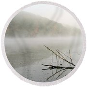Early Autumn Morn Round Beach Towel