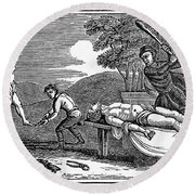 Early Christian Martyrs Round Beach Towel