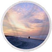 Early Evening Beach Walk Round Beach Towel