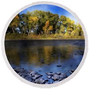 Early Fall At The Headwaters Of The Rio Grande Round Beach Towel