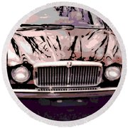 Early Jaguar Xj6 Round Beach Towel