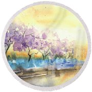 Early Morning 26 Round Beach Towel