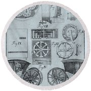 Early Odometer Round Beach Towel by Science Source