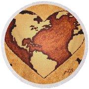 Earth Day Gaia Celebration Digital Art Round Beach Towel