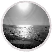 Earth Water And Fire Round Beach Towel