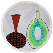 Earthen Decorative Pottery Round Beach Towel