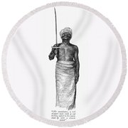 East Africa: Executioner Round Beach Towel