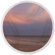 East - After The Sunset Round Beach Towel