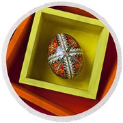 Easter Egg In Box Round Beach Towel