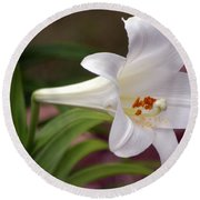 Easter Lily Round Beach Towel
