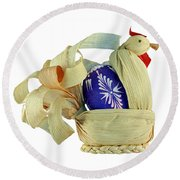 Easter Pullet Round Beach Towel