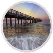 Eastern Glow Round Beach Towel