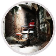 Eastern State Penitentiary - Barber's Chair Round Beach Towel