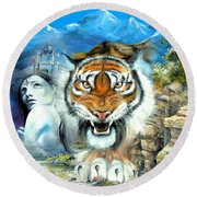 Easy Tiger Round Beach Towel