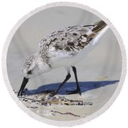 Eating At The Shore Round Beach Towel