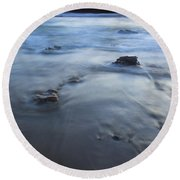 Ebb Stones Round Beach Towel by Mike  Dawson