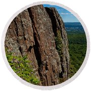 Edge Of The Mountain Round Beach Towel