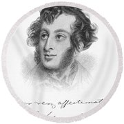 Edward Bulwer Lytton Round Beach Towel