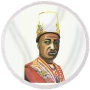 Edward Frederick Mutesa II Round Beach Towel