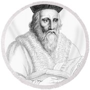 Edward Kelley, English Alchemist Round Beach Towel by Science Source