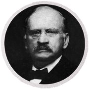 Edward W. Morley 1907 Nobel Prize Round Beach Towel