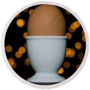 Egg Round Beach Towel