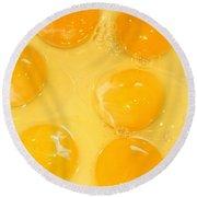 Eggs Yolk Round Beach Towel