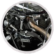 Egli-vincent Godet Motorcycle Round Beach Towel