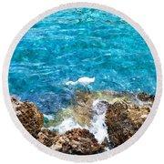 Egret Ewc Round Beach Towel