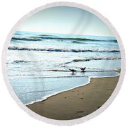 Egrets I Have A Few Round Beach Towel