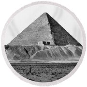 Egypt: Cheops Pyramid Round Beach Towel