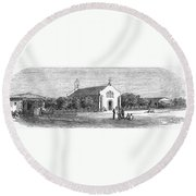 Egypt: El Guisr Church, 1869 Round Beach Towel