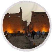 Egypt Luxor Temple Round Beach Towel