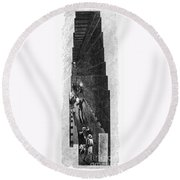 Egypt: Pyramid Interior Round Beach Towel