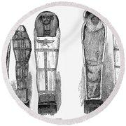 Egypt: Royal Mummies, 1882 Round Beach Towel