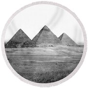 Egyptian Pyramids - C 1901 Round Beach Towel