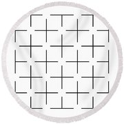 Ehrenstein Illusion Round Beach Towel