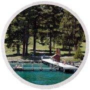 Ehrman Mansion Sugar Pine Point State Park Round Beach Towel