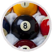 Eight Ball Round Beach Towel by Garry Gay