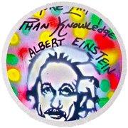 Einstein Imagination Round Beach Towel