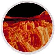 Eistla Regio Of Venus Round Beach Towel